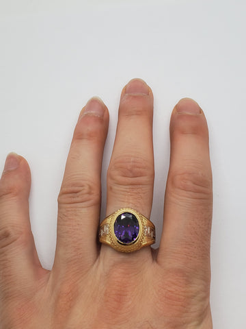 Bague versace pierre Violer en or 10k model 2020