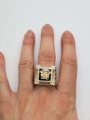 Bague versace Massif  en or 10k model 2020