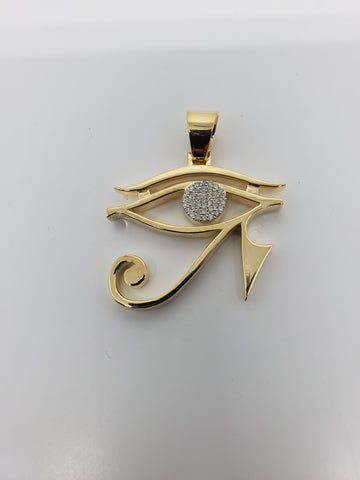 eye of horus  0.40ct de diamants en or 10K