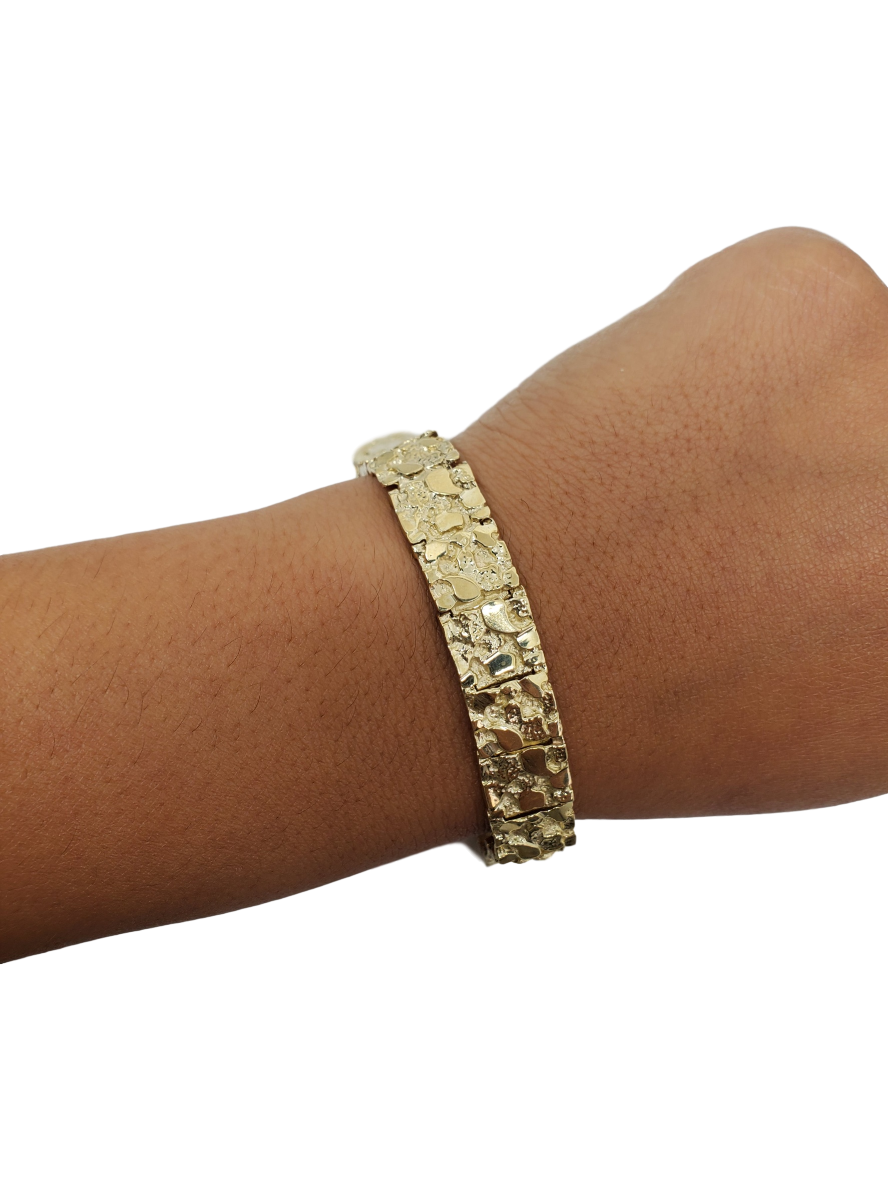 Bracelet Nugget 11 mm en or 10K modele 2020