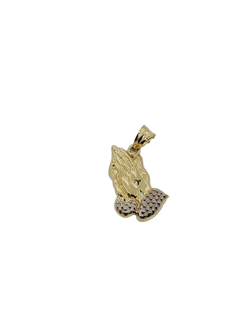 praying hands pendentif - 2020 en or 10k