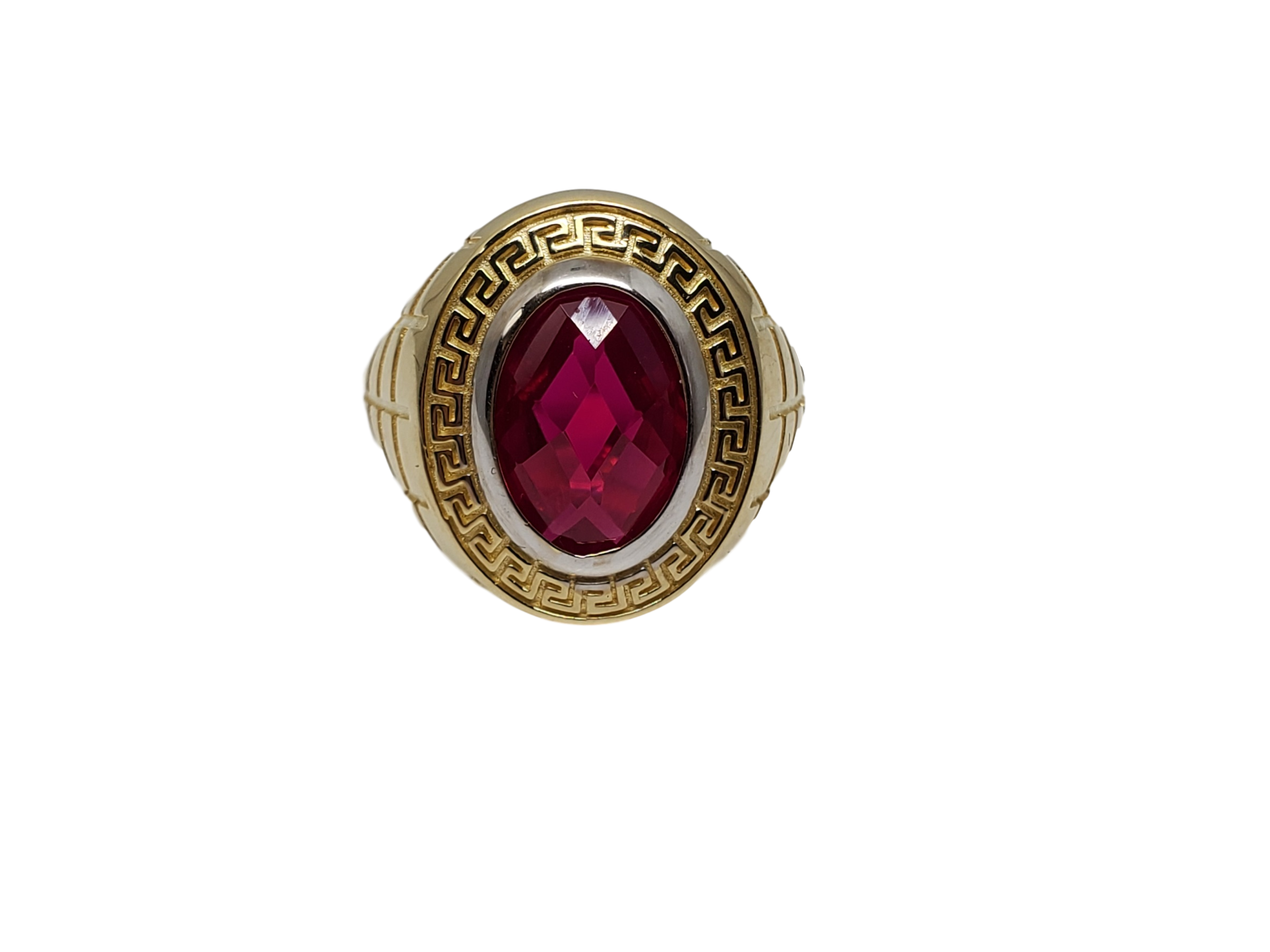 Bague ruby rouge avec Versace en or 10k model 2020