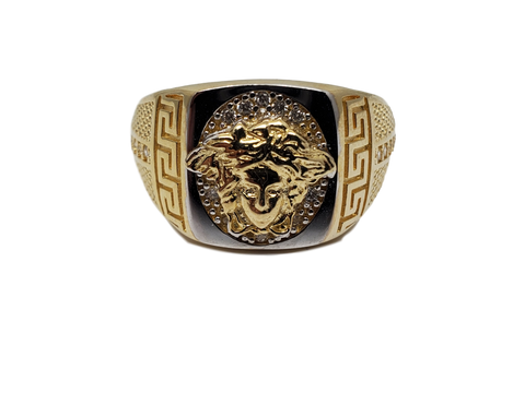 Bague Versace Mario en or 10k model 2020