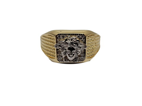 Bague Versace Luca en or 10k model 2020
