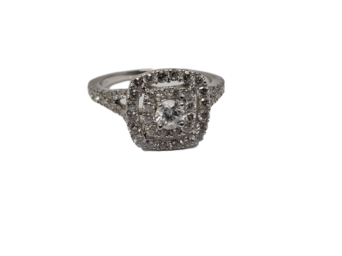 Bague Maria 1.00ct diamants en or blanc 10K