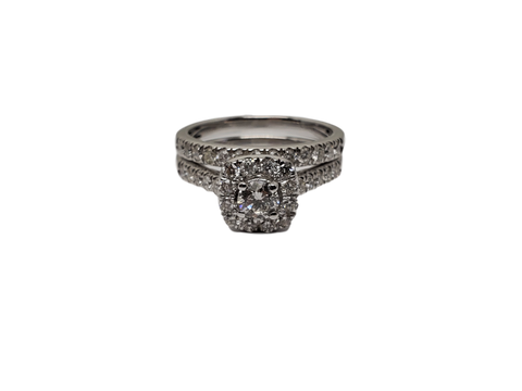Bague Anna 1.00ct diamants en or blanc 14K