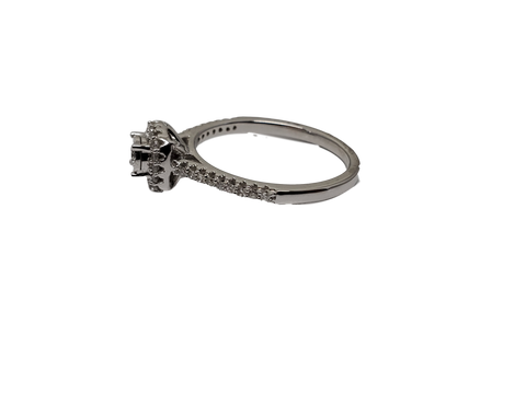 Bague 0.25ct diamants en or blanc 10K