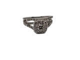 Bague 1.00ct diamants en or blanc 14K