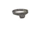 Bague Rosa 0.50ct diamants en or blanc 14K