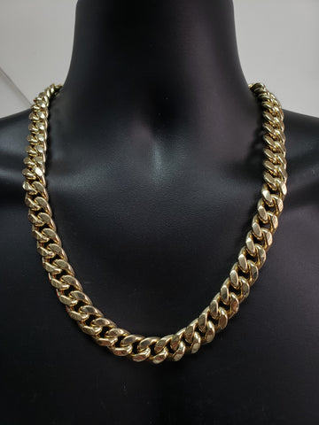 Miami Cuban Link en or 10 karat 15mm JUMBO Italien Pour Homme | For Him Miami Cuban Link Chain 15mm with Italian gold 10K MC15-Gold Custom