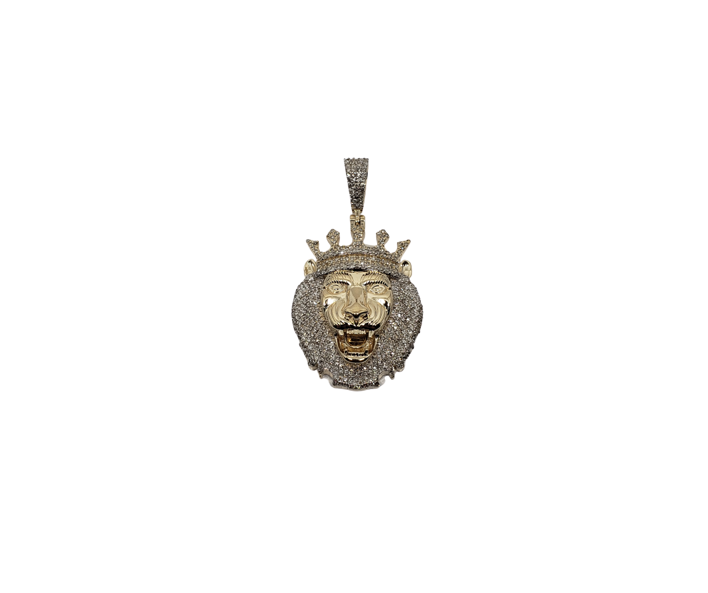 Lion Crown King 1.14ct diamants en or 10K