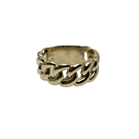 Bague Large Cuban Link en or 10k model 2020 LA044
