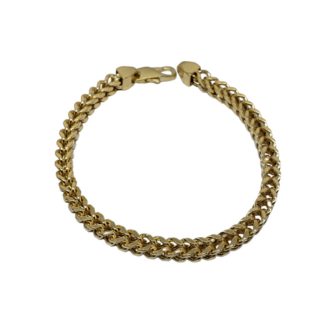 Bracelet Franco 5.5mm en or 10k Italien | Franco Bracelet for Men 5.5mm Italian Yellow Gold 10k B-FR55
