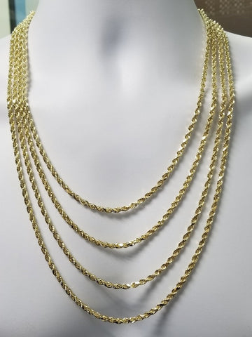 Gold Rope Chain 4mm Diamond Cut 10k | Ropechain 4mm Diamond cut en or 10k-Gold Custom