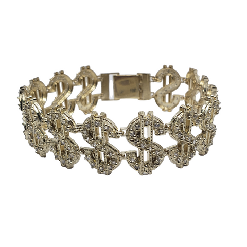 Bracelet DOLLA $IGN en or 10k Italien | DOLLA $IGN Bracelet Yellow Gold 10k LA201