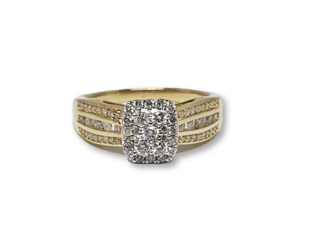 Bague Acilia 0.50ct de diamants en or jaune 10K N2 - orquebec