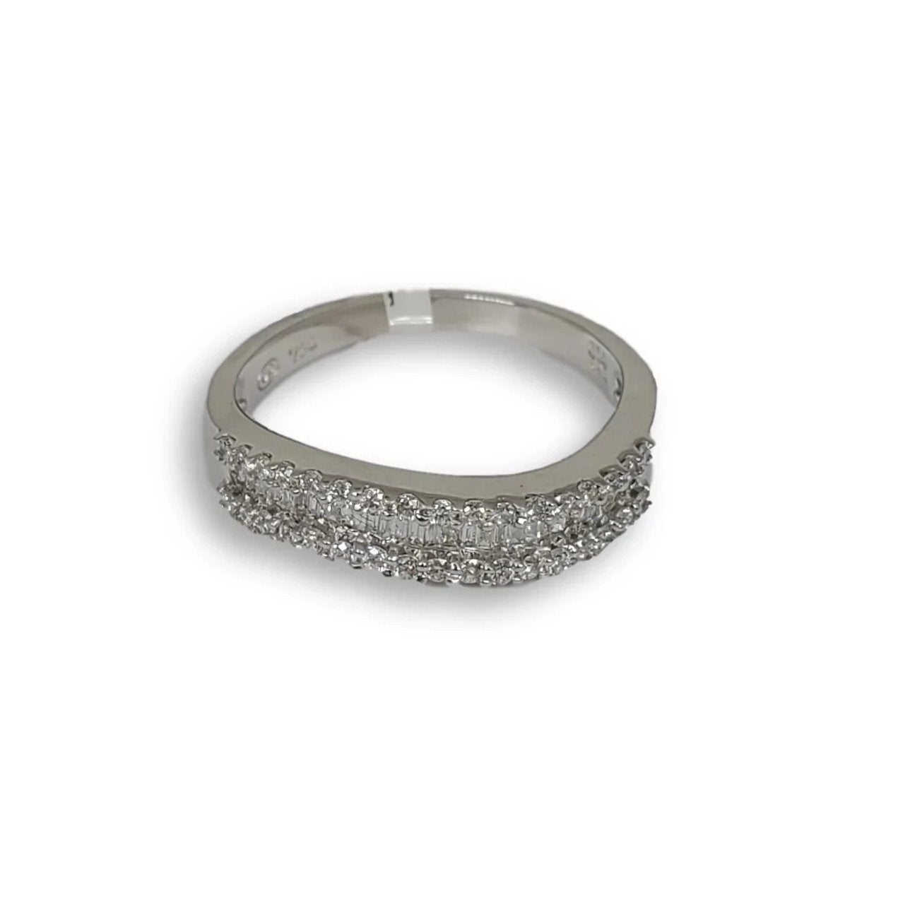 Bague de fiancaille Nadia 0.39ct de diamants VS en or blanc 18k - orquebec