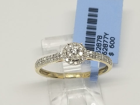 Bague Fincaille 0.25ct Diamants en or 10 karat - orquebec