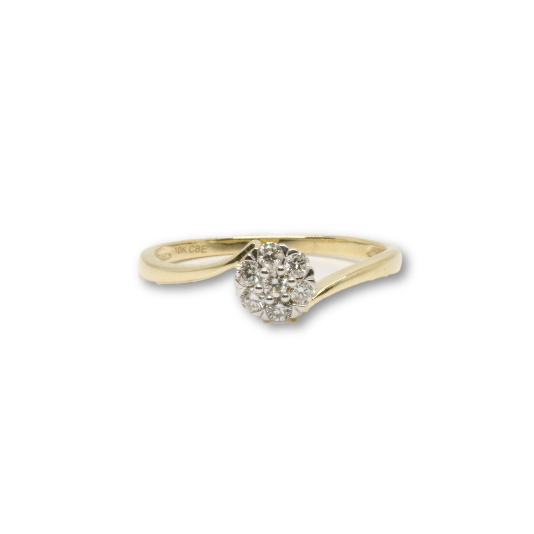 Bague Giorgia 0.18ct Diamants en or 10k - orquebec