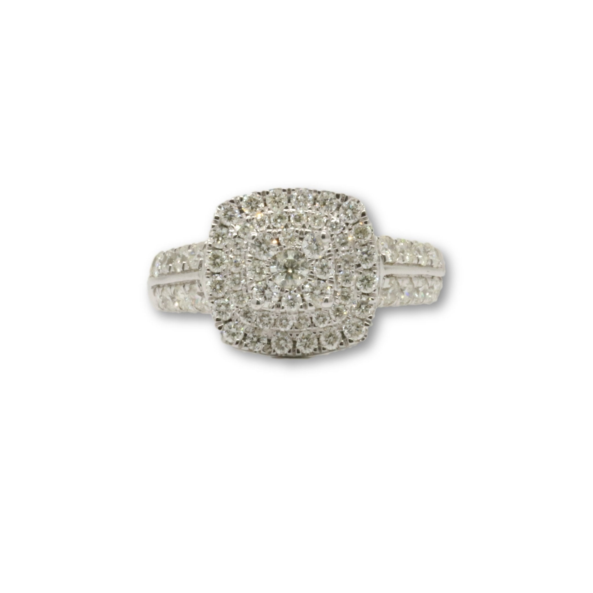 Bague Halo Paver 1.00ct Diamants - orquebec