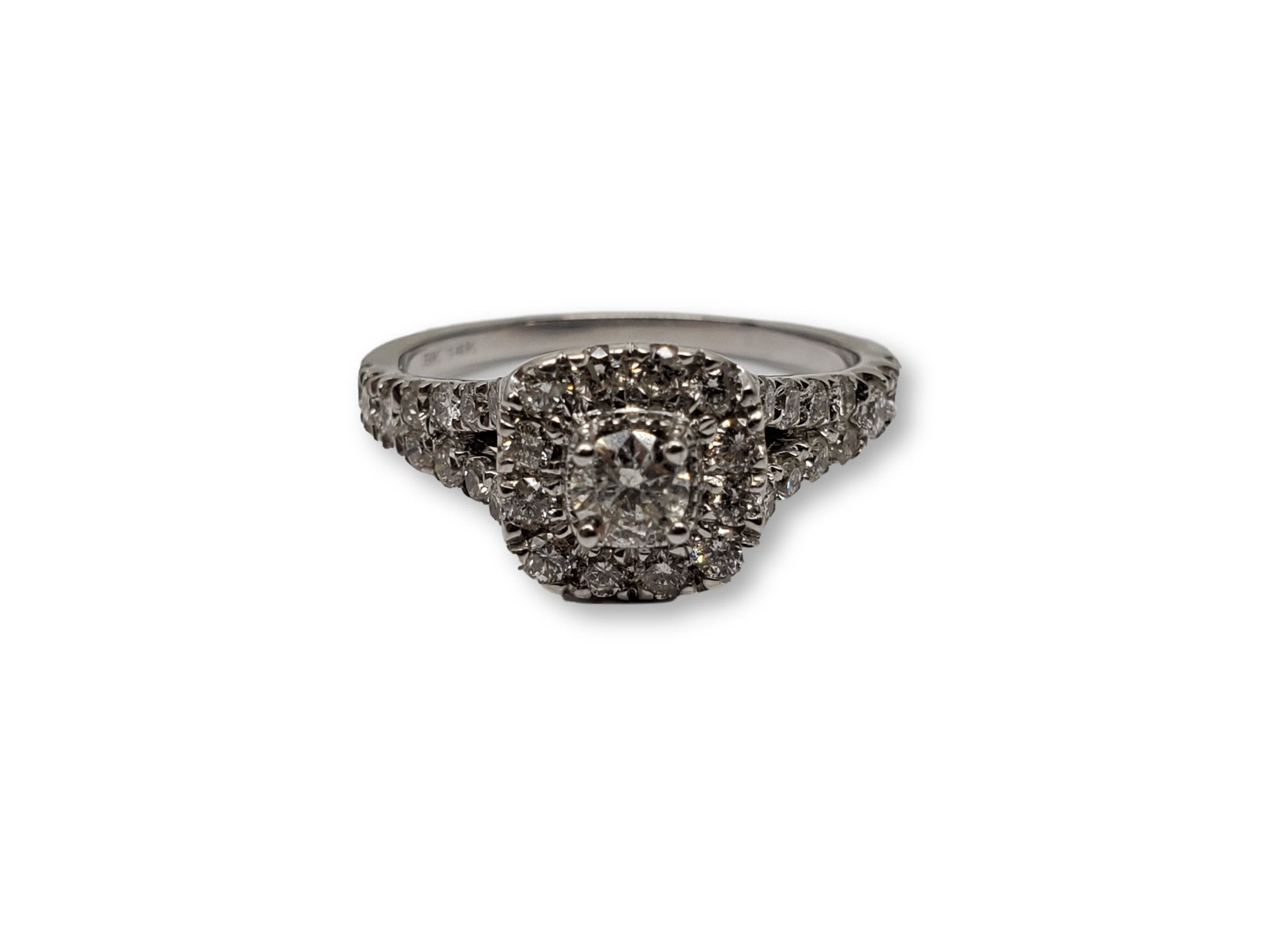 Bague Hazel 1.00ct diamants  en or blanc 10k - orquebec