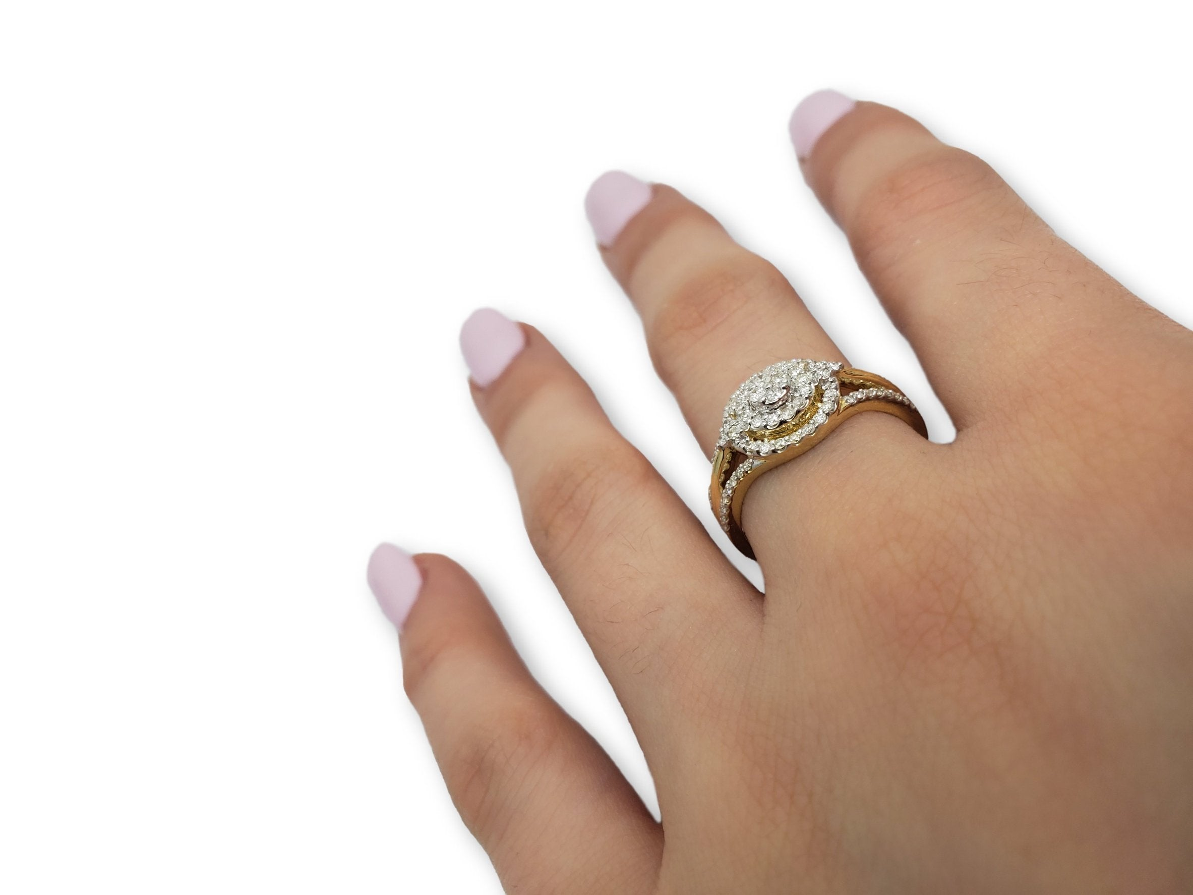 Bague Jasmine 0.50ct de diamants en or jaune 10k