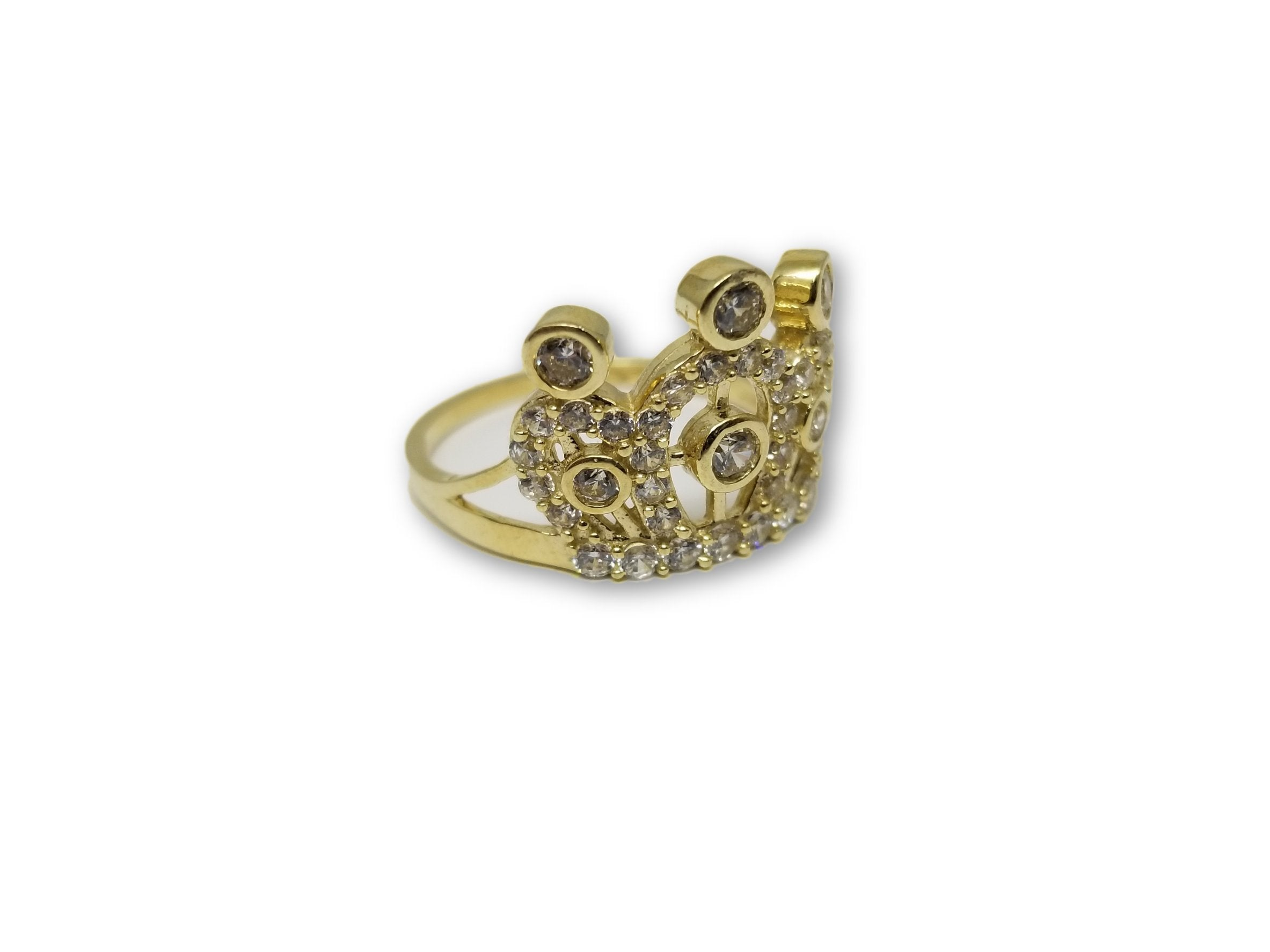 Bague Princessa en or jaune 10 karat - orquebec
