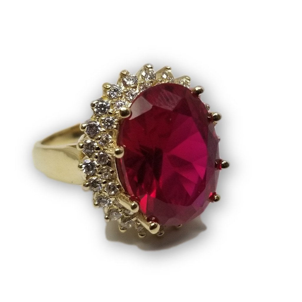 Bague Ruby rouge en or 10k - orquebec