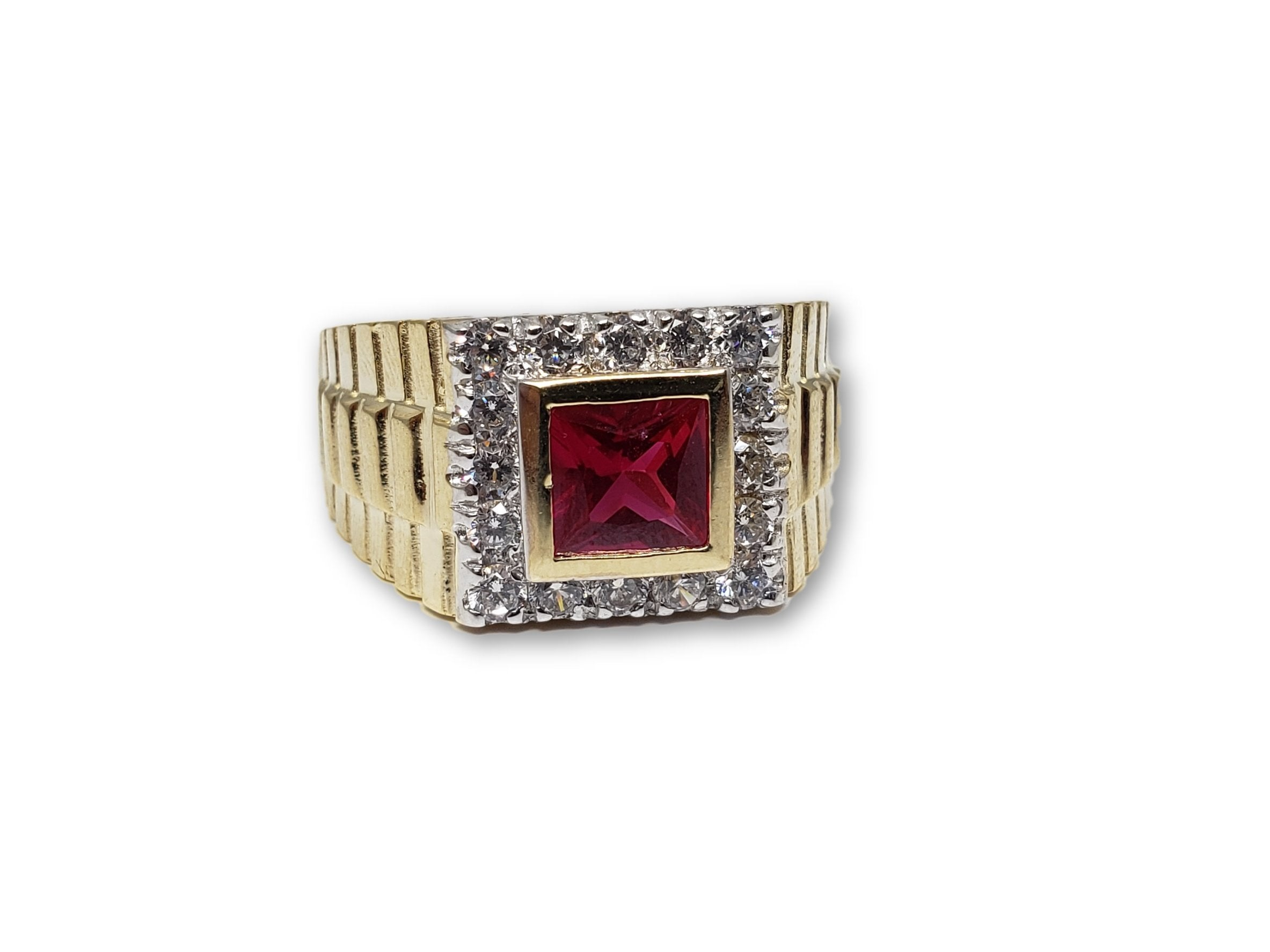 Bague Ruby Rouge en or 10k Style rolly - orquebec