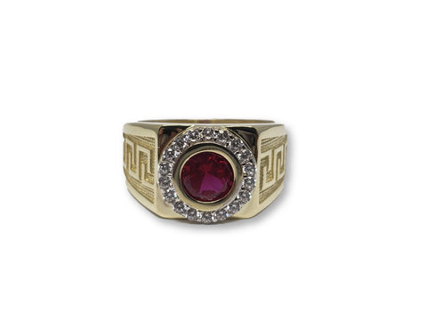 Bague Ruby Rouge Style Medusse en or 10K - orquebec