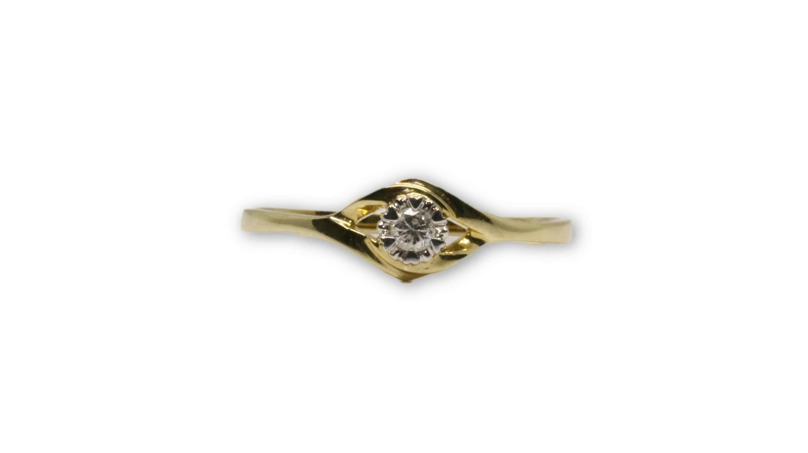 Bague Solitaire 05 0.06ct diamants en or 10K DRG-052 - orquebec
