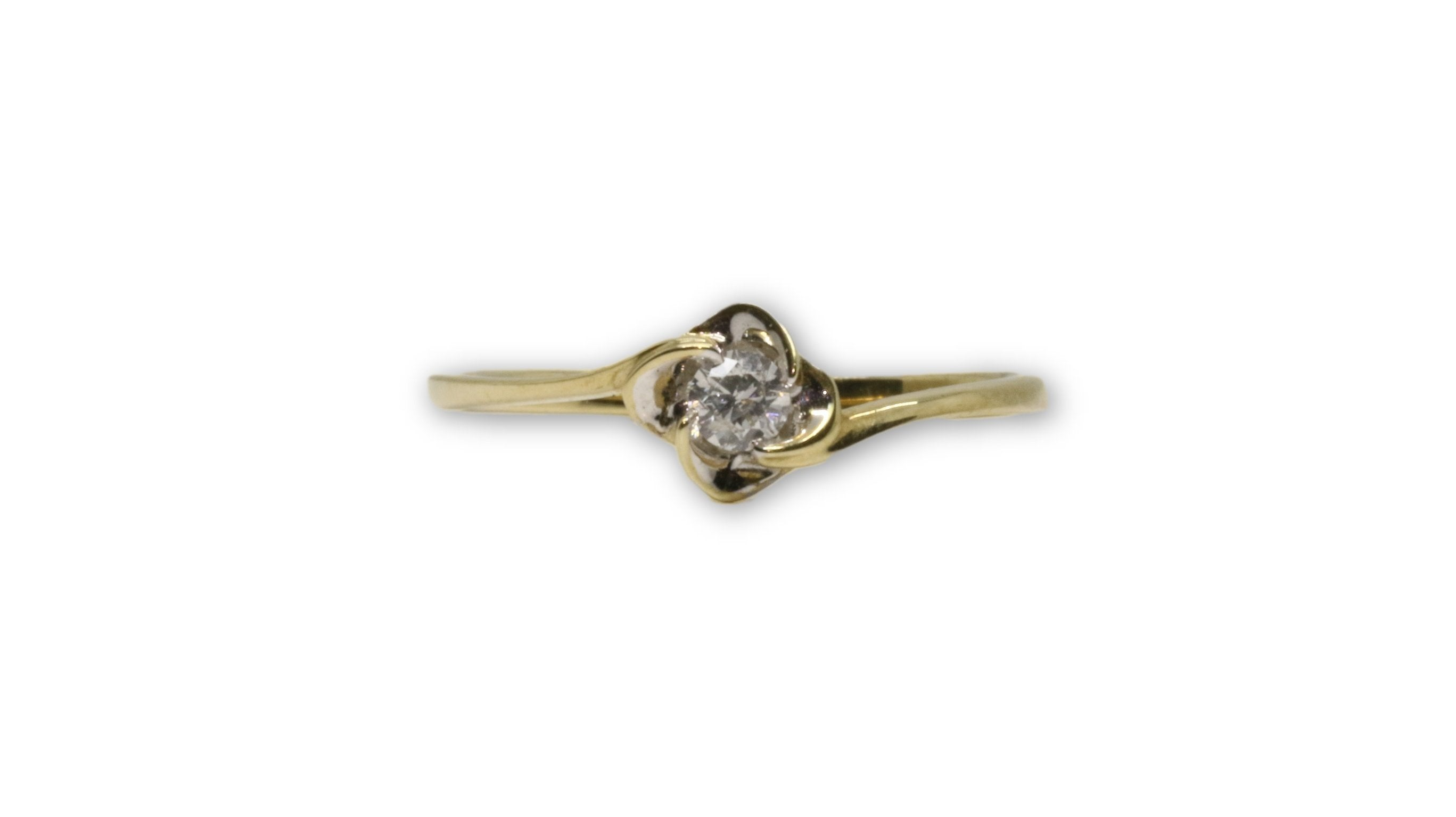 Bague solitaire06 0.12ct de diamants en or 10 K DRG-055 - orquebec