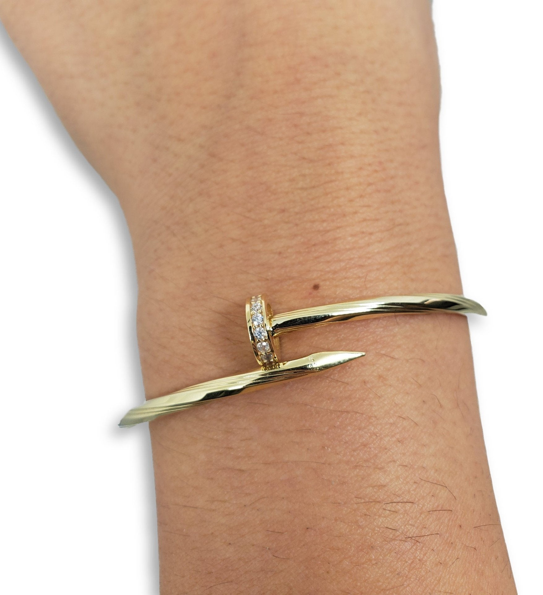 Bracelet5 en or 10K / Bangle5 in 10K gold - orquebec