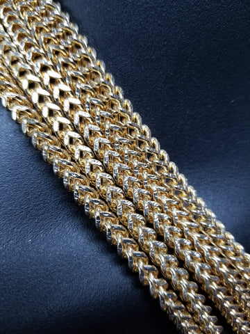 CHAÎNE FRANCO EN OR 10K 6MM Diamond Cut | Franco Chain 6mm For Men in Gold 10kt Diamond Cut-Gold Custom