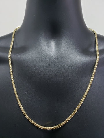 Chaine franco en or 10k Solid 3mm pour homme | Men's 10K gold Franco Chain 3mm-Gold Custom