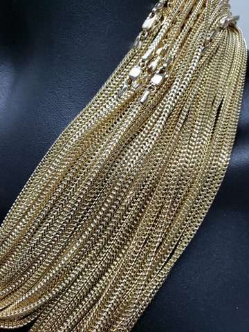 Chaine Franco en or jaune 10k 2.1mm Italien | Franco Chain For Him in Italian Gold 10Kt 2.1mm-Gold Custom