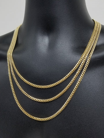 Chaine Miami Cuban Link en or 10k 4mm Class Italien Spécial | Miami Cuban Link Chain 4mm for Men in Italian old 10K-Gold Custom