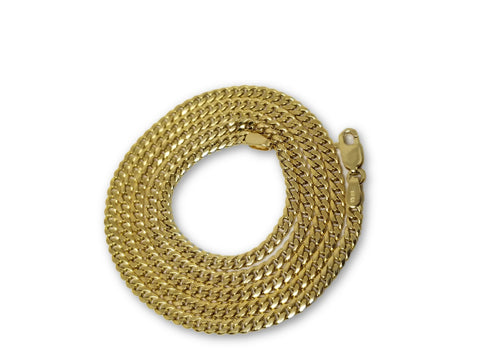 Chaine Miami Cuban Link en or 10k Italien 3mm Special | Men's Miami Cuban Link Chain 3mm in Special Italian Gold 10Kt-Gold Custom
