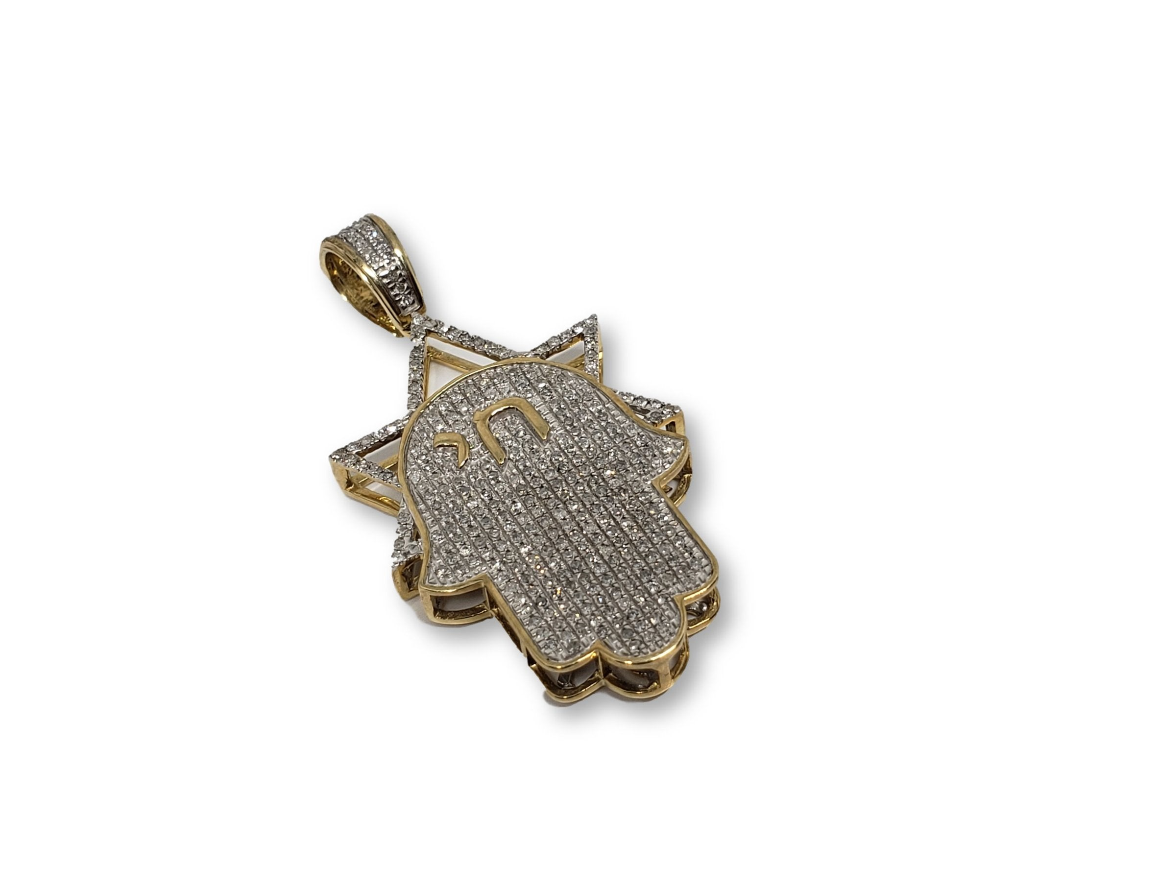 Hamsa 0.59CT Diamants en or jaune 10K - orquebec