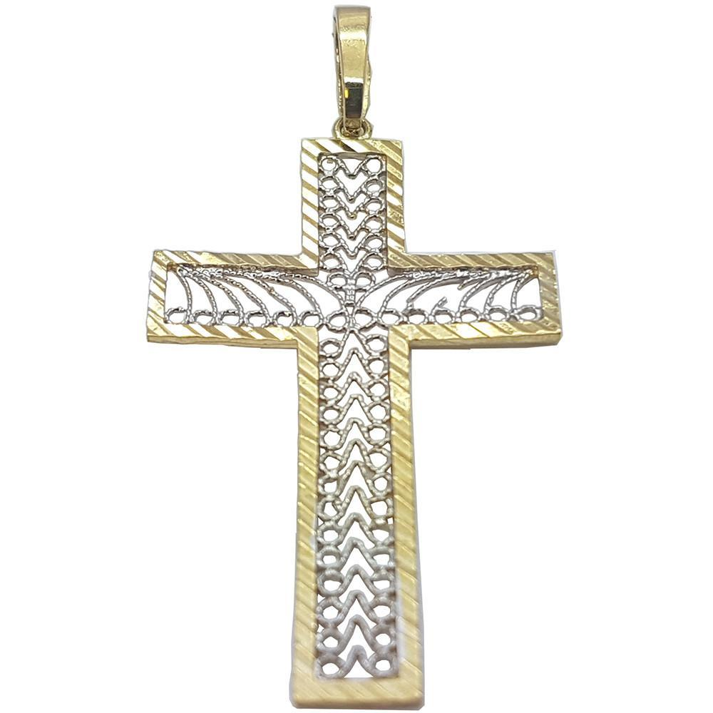 High Polish 10K Kerestes Cross Pendant - orquebec