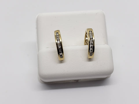 huggys  0.15ct de diamants en or jaune 10K - orquebec