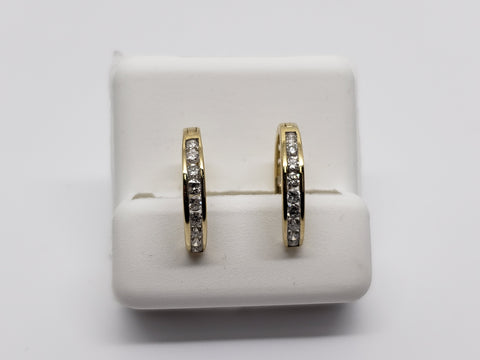 huggys  0.50ct de diamants en or jaune 10K - orquebec