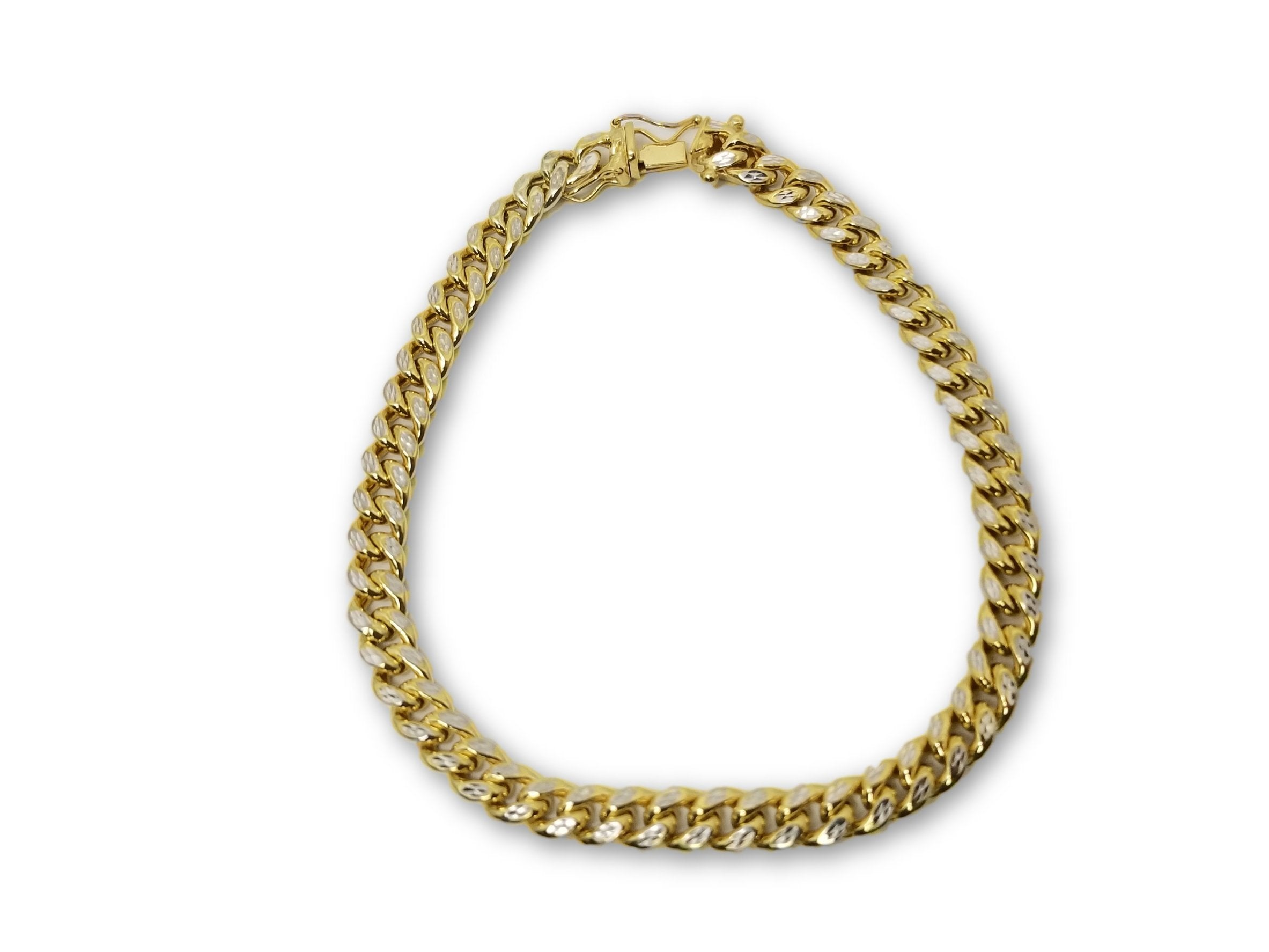 Miami Cuban Link Diamond Cut 6mm Box Lock en or 10k Italienne SPECIAL - orquebec