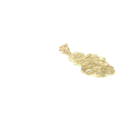 Pendatif Nugget NUG-004  en or 10 karat diamond cut - orquebec