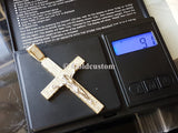 Real 10K High Polish Solid Yellow Gold Zion Jumbo Cross - orquebec