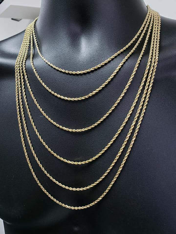Rope Chain 2.5mm Diamond Cut 10k Yellow Italian Gold | Torsade 2.5MM coupe diamant en or jaune 10kt-Gold Custom