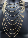 Rope Chain in 10 karat gold 2.5mm for men | Chaine ou torsade de 2.5mm pour homme en or 10K-Gold Custom