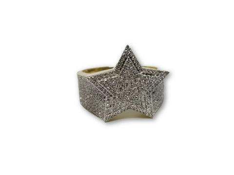 Star ring 0.71ct de Diamants en or jaune 10k Exclusif - orquebec