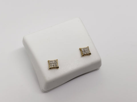 Studs-062 0.05ct de diamants en or 10k - orquebec