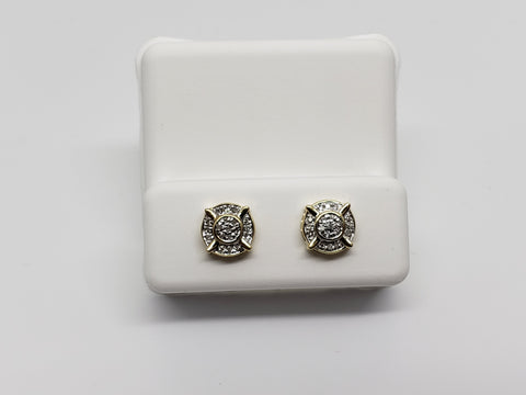 Studs-066 0.07ct de diamants en or 10k - orquebec